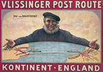 16143CV-VLISSINGER POST ROUTE KONTINENT - ENGLAND