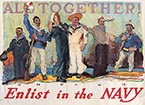 18898CW-ALL TOGETHER - ENLIST IN THE NAVY